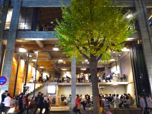 Cafe at night in Seoul